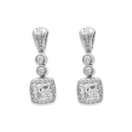 Michael Beaudry Platinum Diamond Earrings