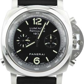 Panerai Luminor Rattrapante PAM213 Chronograph Stainless Steel Mens Watch