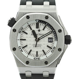 Audemars Piguet Royal Oak Offshore Diver 15710ST.OO.A002CA.02 Silver Dial Stainless Steel Mens Watch