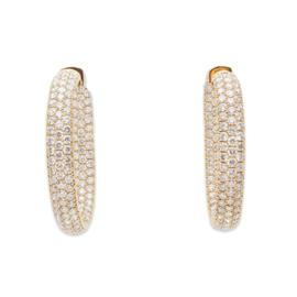 Odelia 18K Yellow Gold 9.03ct Diamond Hoop Earrings