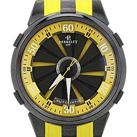 Perrelet Turbine Racing XL A1051/7 Black Dial Yellow Strap Mens Watch