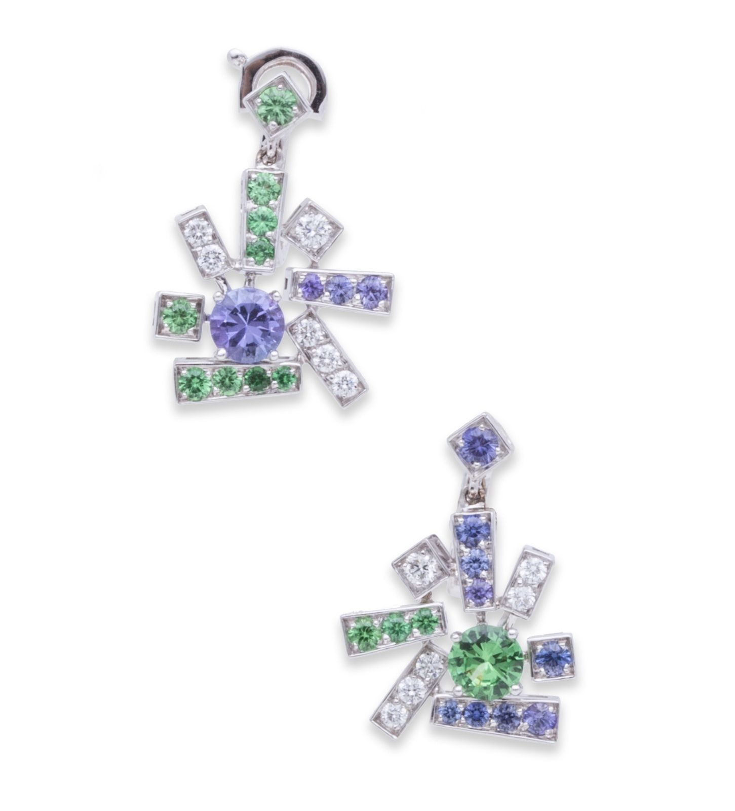 "Image of ""Chaumet 18K White Gold Diamond Le Grand Frisson Earrings"""