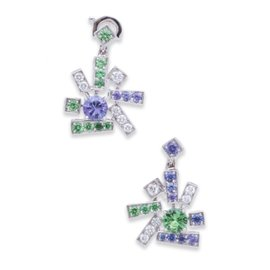 Chaumet 18K White Gold Diamond Le Grand Frisson Earrings