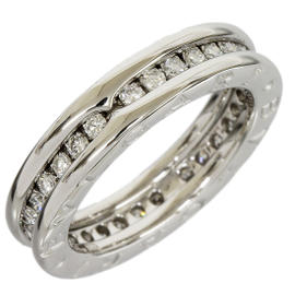Bulgari B.ZERO1 18K White Gold 1-Band Diamonds Ring Size Medium