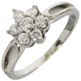 Mikimoto PT950 Platinum 0.34ct Diamond Ring 6.25