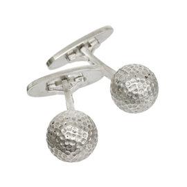 Georg Jensen 925 Sterling Silver Golf Ball Motif Cufflinks