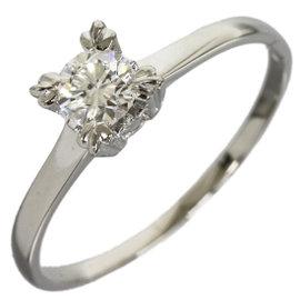 Mikimoto Platinum 0.30ct Diamond Band Ring Size 7.25