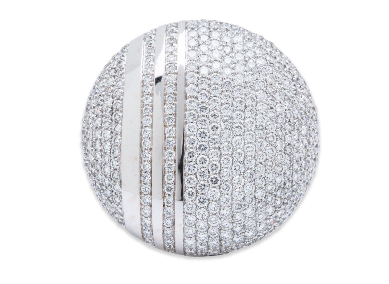 "Image of ""Messika 18k White Gold 2.96ct Diamond Ring Sz 7.5"""