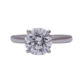 Cartier Platinum 2.00Ct Diamond Engagement Ring