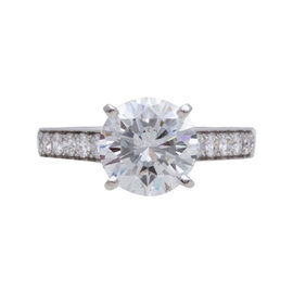 Cartier Platinum 3.04 Ct Diamond Engagement Ring