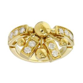 Bvlgari Bulgari 18K Yellow Gold Diamond Astrale Design Ring Size 6.25