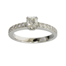 Tiffany & Co. 0.30ct Diamond Novo Platinum Ring Size 3.75