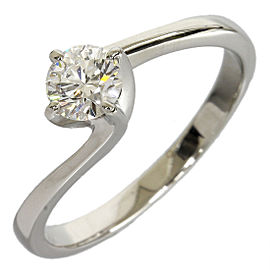 Mikimoto Platinum 0.31ct Diamond Ring Size 4.75