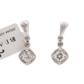 Michael Beaudry Couture Platinum 1.50 Ct Diamond Earrings