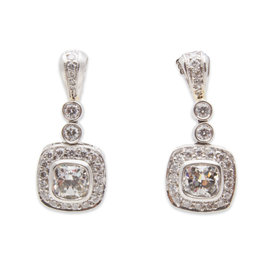 Michael Beaudry Couture Platinum 2.02 Ct Diamond Earrings