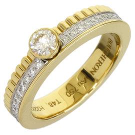 Boucheron Quatre 18K Yellow and White Gold 0.20 Ct Diamond Ring Size 4.75