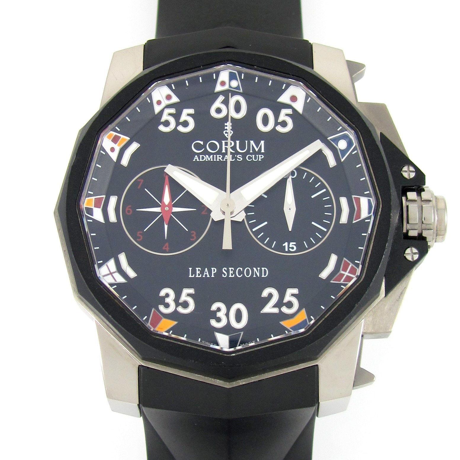 """""Corum Admirals Cup Titanium / Rubber 48mm Mens Watch"""""" 1136650"
