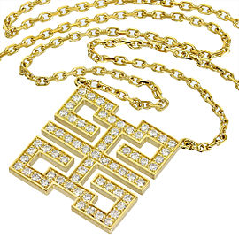 Cartier 18K Yellow Gold & Diamond Necklace