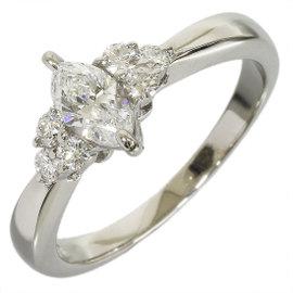 Mikimoto Platinum & 0.50ct Diamond Ring Sz 6