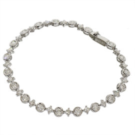 De Beers 18k White Gold 2.60 Ct Diamond Bracelet