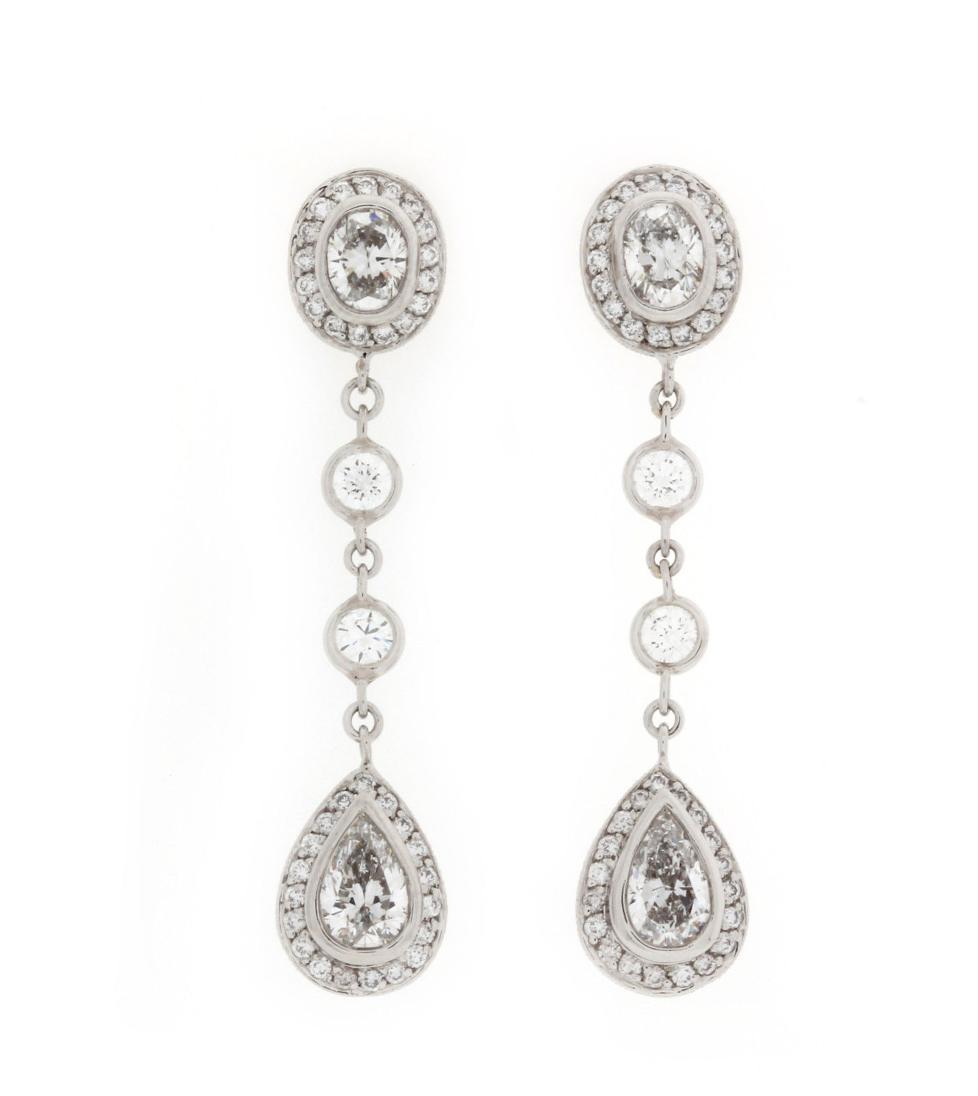 "Image of ""Michael Beaudry Platinum 3.82 Ct Diamond Earrings"""