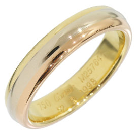 Cartier Trinity 18K Three Gold Wedding Band Ring Size 6.25