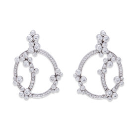 Audemars Piguet Millenary 18K White Gold 2.20 Ct Diamond Earrings