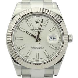 Rolex Datejust II 116334 White Gold Bezel Oyster Bracelet 41mm Mens Watch