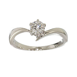 Mikimoto Platinum 0.32 Ct Diamond Solitaire Ring Size 4.75