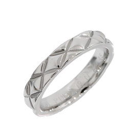 Chanel Matelasse Platinum Band Ring Size 4.5