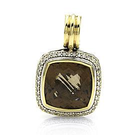 David Yurman Sterling Silver & 18K Yellow Gold Quartz & Diamonds Albion Pendant