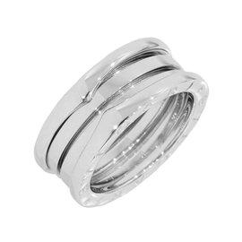 Bulgari 18K White Gold 5-Band Ring Size 5