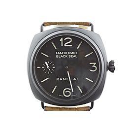 Panerai Radiomir PAM292 Black Ceramic Sandwich Dial Manual 44.5mm Watch