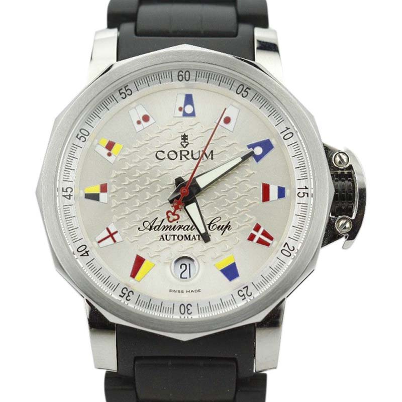 "Image of ""Corum The Admirals Cup Trophy 082.830.20 Stainless Steel & Rubber"""