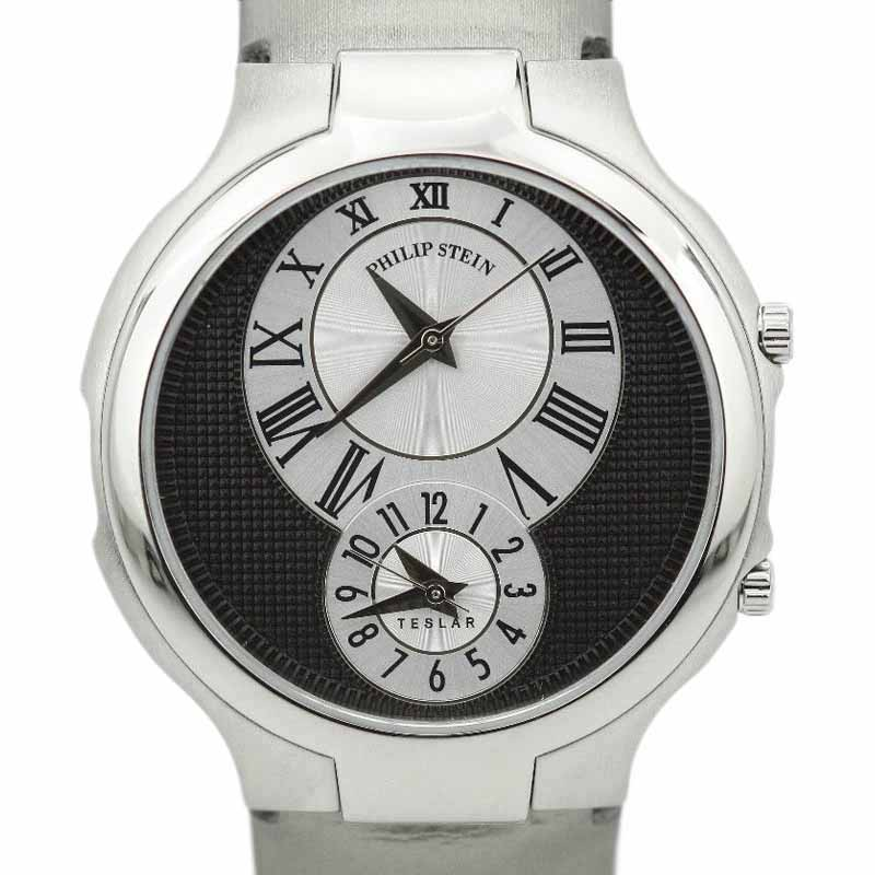 "Image of ""Philip Stein Dual Time Ttf007802 Stainless Steel & Satin Quartz 38.5mm"""