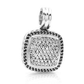 David Yurman Sterling Silver Albion Black & White Pavé Diamond Pendant