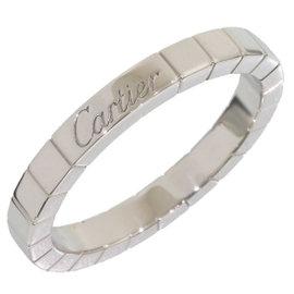 Cartier 18K White Gold Lanieres Wedding Ring Size 9