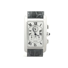 Cartier Tank Americaine W2603356 18K White Gold 26.5mm x 43mm Watch