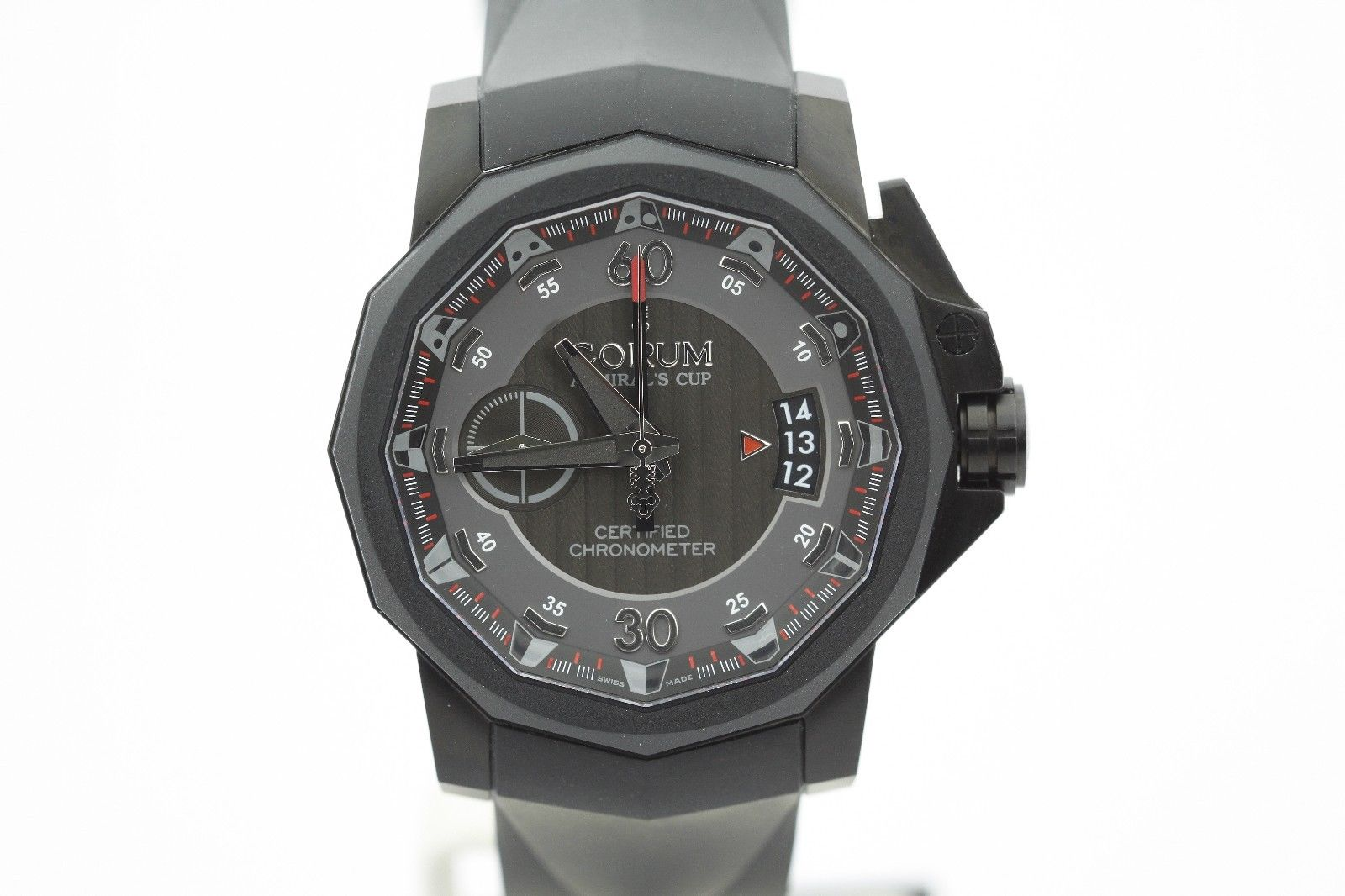 """""Corum Admirals Cup 961.101.94/f371 An12 Stainless Steel & Rubber Mono"""""" 1102414"