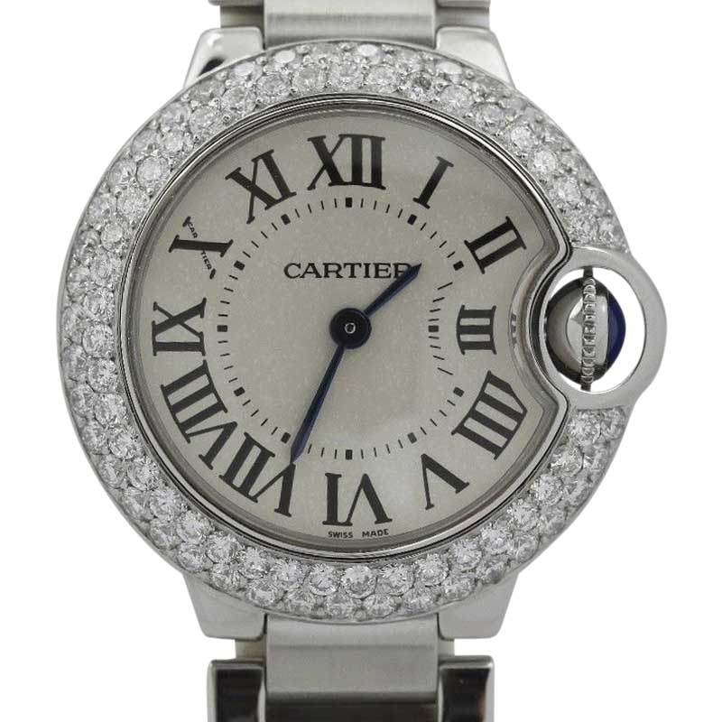 Cartier Ballon Bleu Stainless Steel with Diamond Bezel Quartz 27mm