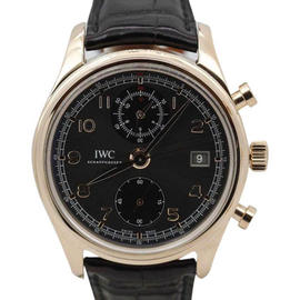 IWC IW390405 18K Rose Gold Portuguese Classic Chronograph 42mm Mens Watch