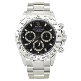Rolex Daytona 116520 Stainless Steel Black Dial Automatic 40mm Mens Watch