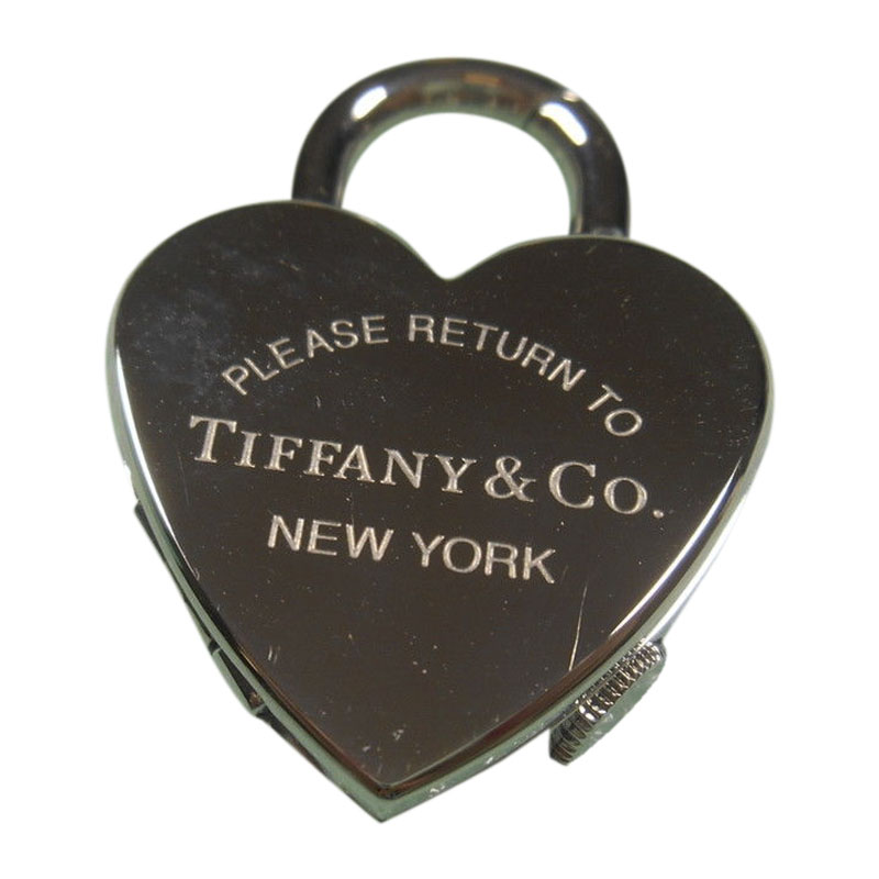 """Image of """"Tiffany & Co. Return to Tiffany Stainless Steel Watch Padlock Pendant"""""""