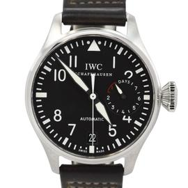IWC Big Pilot 7 Day IW500401 Stainless Steel & Leather 46.2mm Mens Watch