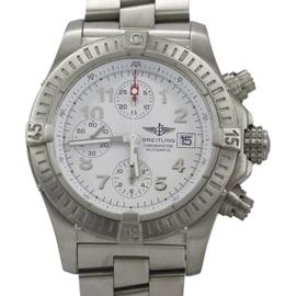 Breitling Avenger Chronograph E13360 Titanium White Dial Automatic 44mm Mens Watch