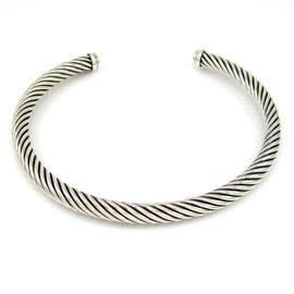David Yurman 925 Sterling Silver Cable Choker Necklace