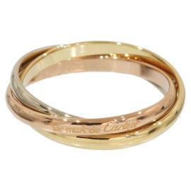 Cartier Trinity de 18K 3-Gold Bands Ring Size 5.25