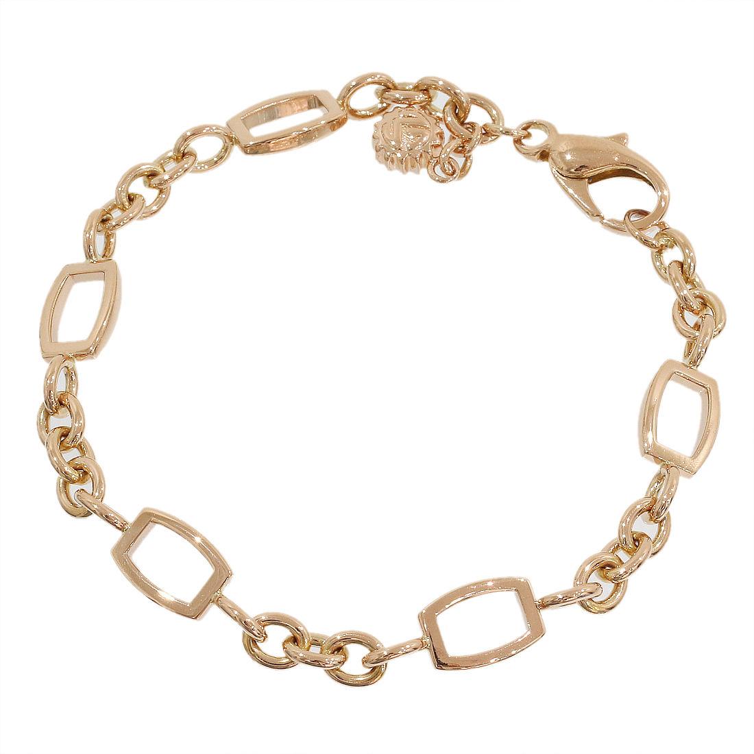 """Image of """"Franck Muller 18K Rose Gold Talisman Chain Link Bracelet"""""""