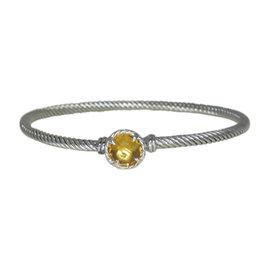 David Yurman Sterling Silver Chatelaine Citrine Bracelet