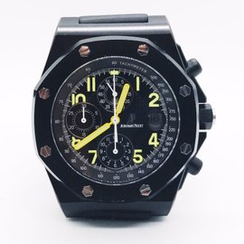 Audemars Piguet Royal Oak Offshore 25770SN.O.0001KE.01 Stainless Steel Black PVD & Leather 42mm Mens Watch